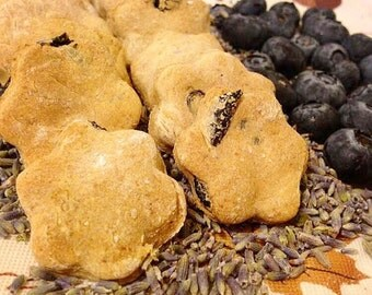 Blueberry Lavender Blossoms - Dog treats - 48 mini treats - All Natural - Organic Lavender - Calming Night Time Snack