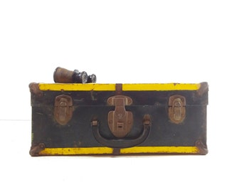 Vintage 1940s Roller Skate Case / Metal Box / Industrial Storage
