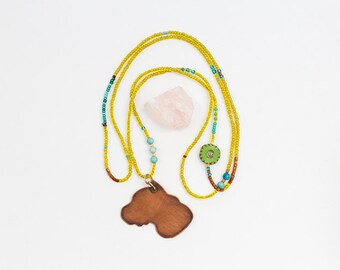 Pit Bull Beaded Necklace