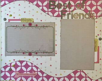 Best of Friends - 12x12 Premade 1 Page Layout