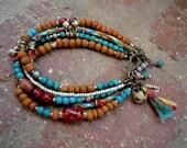 Boho Bracelet / Gypsy Bracelet / Gypsy Jewelry / Boho Chic / Multi Strand Bracelet / Woman Bracelet / Bohemian Jewelry / Bohemian Bracelet