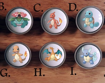 Pokemon Go knobs / Bedroom Dresser Knob / Nursery Drawer Knobs / Pokemon Ceramic knobs / Pokemon Cabinet Knobs Pull Handle Hardware