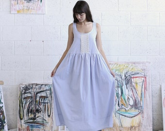 Cotton Maxi Dress,Farm dress ,Oversized dress