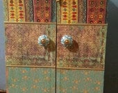 Moroccan inspired Wall Cabinet for jewelry , medicine cabinet, Wedding gift