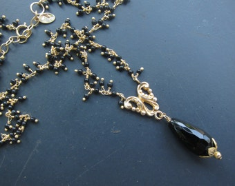 Antique Watch Fob Necklace with Spinel Gems, Two Girls Gems