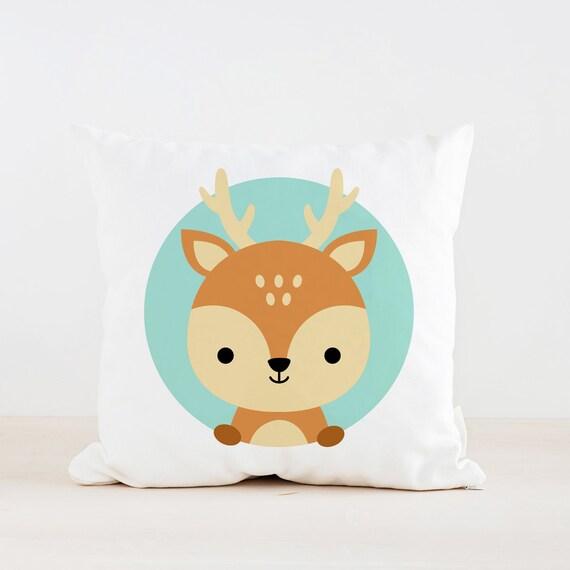 Animal Nursery Pillows : Animal Deer Nursery Pillow Kids Pillow Cushion Home decor