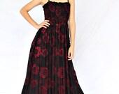 Maxi Dress Black Bridesmaid Dress Women Plus Size Prom Long Evening Beach Party Dreamy Collection
