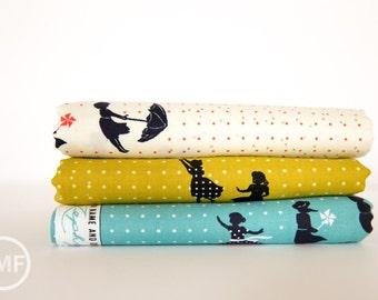 Zephyr Breeze Fat Quarter Bundle, 3 Pieces, Rashida Coleman Hale, Cotton+Steel, RJR Fabrics, 100% Cotton Fabric, 1921
