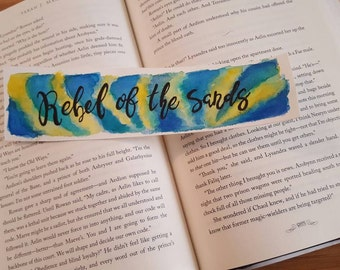 Rebel of the Sands Watercolor Bookmark, Gift For Booklover, Young Adult Bookmark