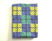 Mid-Century Tri-Color Cotton Fabric Yardage - Geometric Pattern