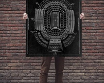 Vintage Lambeau Field Diagram on Photo Paper, Matte paper or Canvas Sports Stadium Tickets Art Home Decor Line Drawing Green Bay Packers