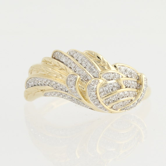 feather ring 14k yellow white gold by wilsonbrothers
