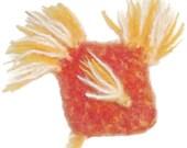 Ann Chovy - Catnip Toy Fish - Hand Knit Felted Organic Catnip Stuffed Fish Cat Toy - No Polyfil, Pure Catnip Stuffing