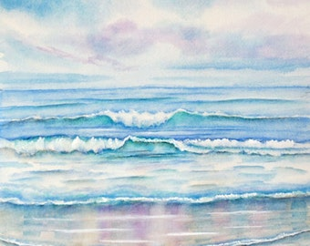 Taylor Canvas Painting Sunrise Waves