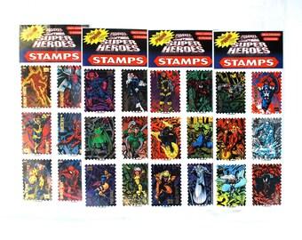 4 Marvel Super Hero Sticker Stamp Packs