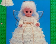 """20%OFF Td Creations CROCHET 13"""" ANGEL Collectable Holiday Series - Crochet Doll Dress Clothes Clothing Pattern"""
