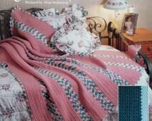 20%OFF The Needlecraft Shop GARDEN STRIPES By Aline Suplinskas - Crochet Afghan Collector's Series Pattern