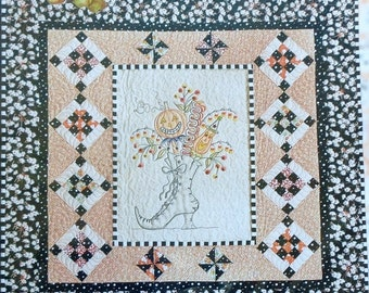 SALE Crab Apple Hill WHICH WITH'S Broom Halloween - Embroidered Embroidery Stitchery Quilt Pattern