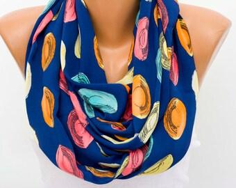 SALE silk scar Infinity scarf,Loop scarf, scarf , necklace scarf, neckwarmer,  NAVY