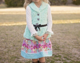 Disney inspired  Alice and Cat  Skirt (18 mos, 24 mos,  2T, 3T, 4T, 5 ,6, 7)
