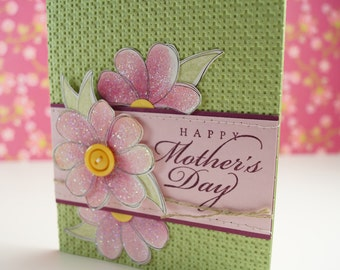 Mothers Day Card Floral - Handmade Mothers Day Card - Floral Mothers Card - Happy Mothers Day Card - Flower Mothers Day Card