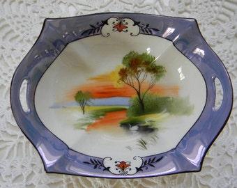 Noritake Blue Lusterware Dish