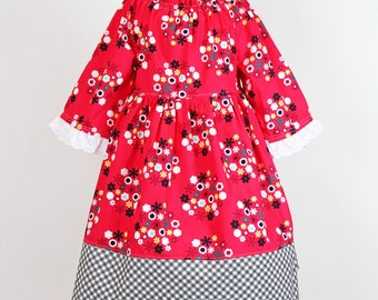 SALE 5/6T Holiday Knot Dress, Ready to Ship. Last One