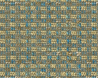 On Trend Solid Basket Weave Upholstery Fabric - Complex Novelty Yarns Create Depth and Body - Durable - Color: Ocean Wave - Per Yard