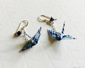 Japanese Origami Crane Earrings
