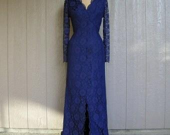 Vintage 60s Lace Evening Dress WIGGLE WALK WOMAN