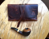 Tobacco Pipe Pouch * Bison Leather * Rustic Pipe Pouch * Utility Pouch * The Gent * Sorringowl & Sons