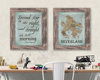 Neverland Peter Pan Paper Prints Set