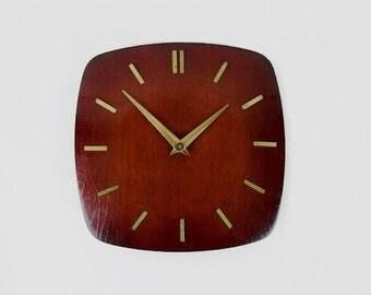 Mid Century Wooden Wall Clock