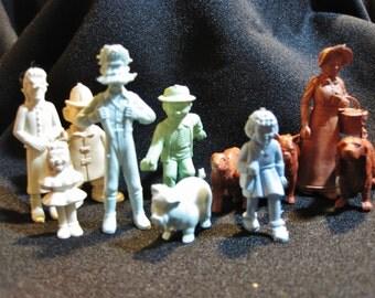 Vintage Marx Comic Strip / Disney 1950's Mixed Lot of 12 Acetate Toy Figurines