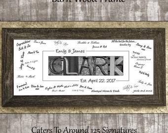 Wedding Guest Book Alternative, Wedding Guest Book Ideas, Wedding Guestbook, Wedding Guest Book, Last Name Sign In, Guest Book Rustic