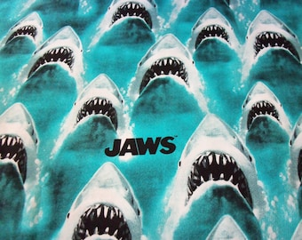Jaws Fabric Shark Week Disney Movie New By The Fat Quarter