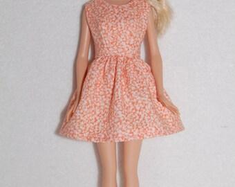 """Barbie doll dress Orange A4B060  11.5"""" fashion doll clothes"""