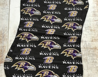 Baltimore Ravens Baby - Ravens Burp Cloth - Ravens Burp Rag - Ravens Baby Girl - Baby Boy - Gift Set