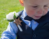 Best Little Man Real Touch Rose Flower Buttonhole Boutonnière