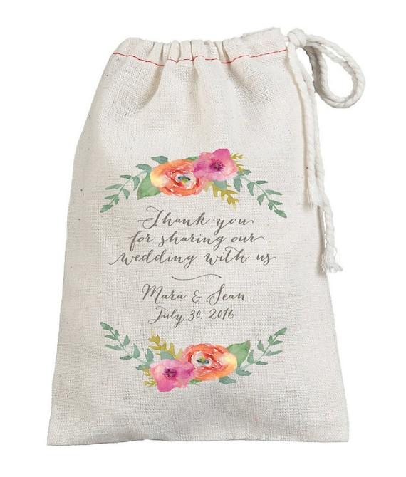 ... Thank You Custom Wedding Favor BagsGuest BagsMuslin Favor Sack