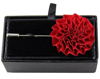 Men's lapel pin brooch chest red flower for Formal Occasions