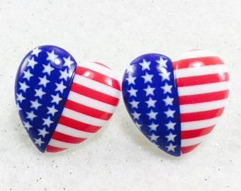 Love the U.S. Red White and Blue Earrings, U S Flag Earrings, 4th of July Earrings, Fourth of July Earrings, Patriotic Earrings