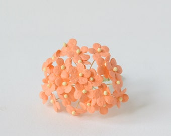 15  mm  20  Orange Mulberry Paper  Flower