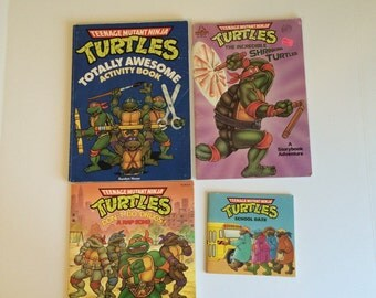 Vintage Teenage Mutant Ninja Turtles Books