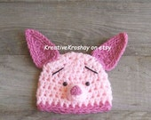 Piglet HAT ONLY -  inspired by Winnie the Pooh  (Newborn - 3 Months & 3-6 Months Sizes)
