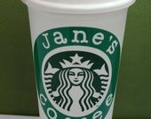 "Personalized coffee Tumbler Starbucks Reusable ""To-go"" Cup customize"
