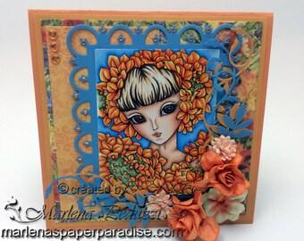 Handmade Greeting Card, Hydrangea Sprite