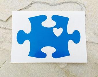 Autism Awareness Decal, Puzzle Piece Decal, Autism Decal, Autism Sticker, Car Decal, Yeti Decal, Monogram Decal, Puzzle Piece Sticker