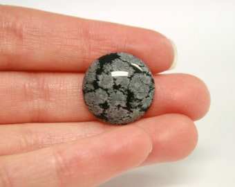 Snowflake Obsidian 18mm Round Cabochon