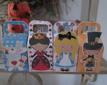 Alice and Friends Large Favor Boxes  Set of 12
